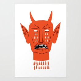 Devil's Head Art Print