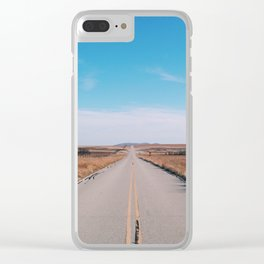 Good road for travelin' on Clear iPhone Case