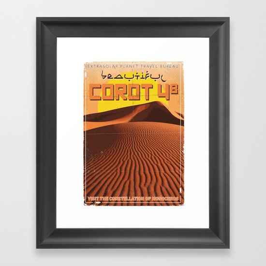 My Exoplanetary Travel Poster: COROT 4b Framed Art Print