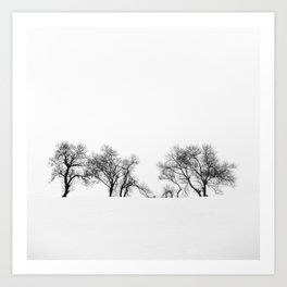 Trees in the snow Art Print