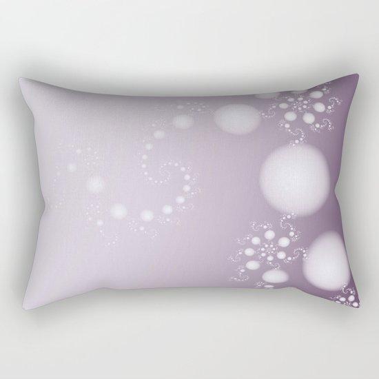 Fractal Pearls in Lavender Rectangular Pillow