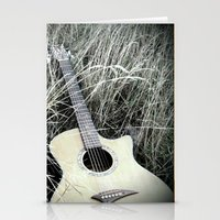 guitar Stationery Cards featuring Guitar by IrishSaint06