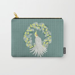 Cockatiel with daisy palm wreath Carry-All Pouch