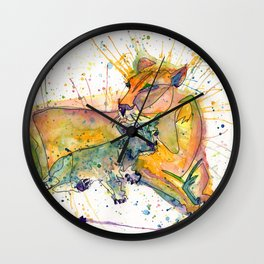 Mommy and Baby Lion Wall Clock