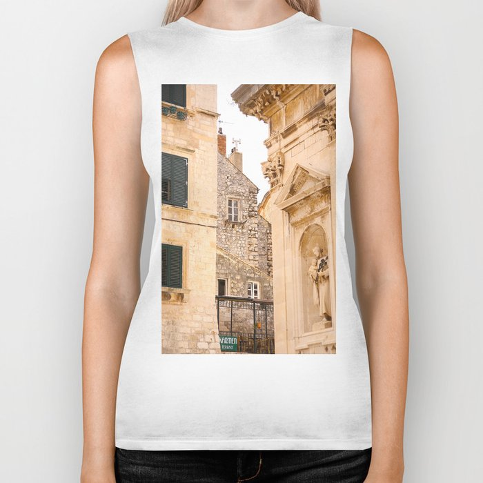Terrace in Old Town Europe #decor #society6 Biker Tank
