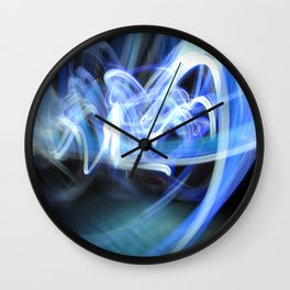 (Mostly) Blue Light Painting Wall Clock