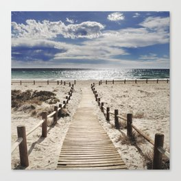 """""""Cabo de Gata"""". Square.  Retro serie Canvas Print"""
