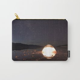 Starry Night Over Salt Flat Mirror Carry-All Pouch