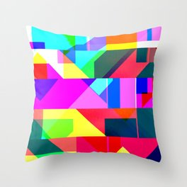 Palm Glitches Painting Throw Pillow