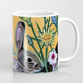 Rabbit Kickin' Back Coffee Mug