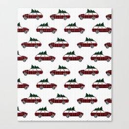 Christmas station wagon estate car holiday winter vacation vintage cars Canvas Print