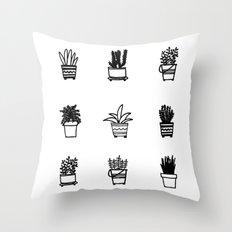 Little Plants Throw Pillow