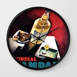 Vintage Campari Italian Cordial Advertisement Wall Art Wall Clock