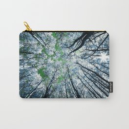 Upward Glance Blue Trees Green Sky Carry-All Pouch