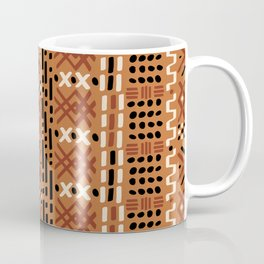 Mudcloth No. 2 in Tri-Color Ochre Coffee Mug