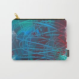 Blue Abstract Unconscious Dreams of Summer Carry-All Pouch