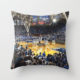 Tip-off, UNC at Duke Throw Pillow