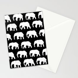 White Elephants on Parade Stationery Cards