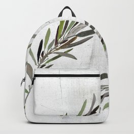 Eucalyptus Leaves White Backpack