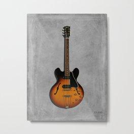 The ES-330 Electric Guitar Metal Print