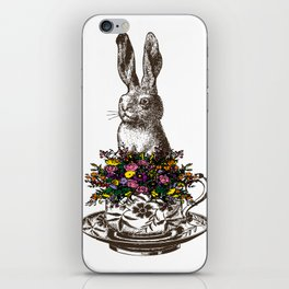 Rabbit in a Teacup iPhone Skin