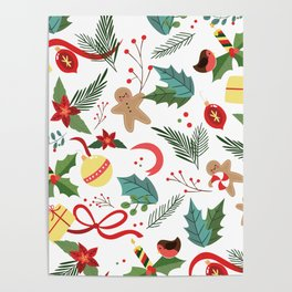 Christmas Pattern 2 Poster
