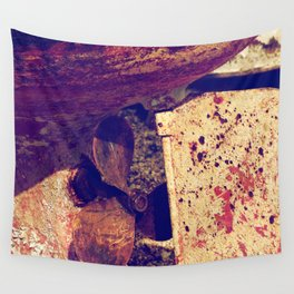 old ship screw Wall Tapestry