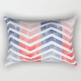 Chevron in Red White & Blue Rectangular Pillow