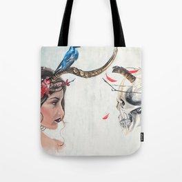 Beauty and mortality Tote Bag