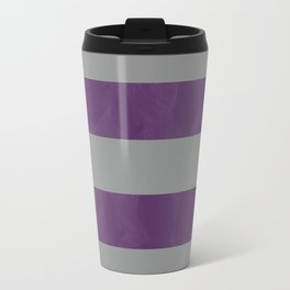 Purple & Grey Stripes | Digital Design | Pattern Travel Mug