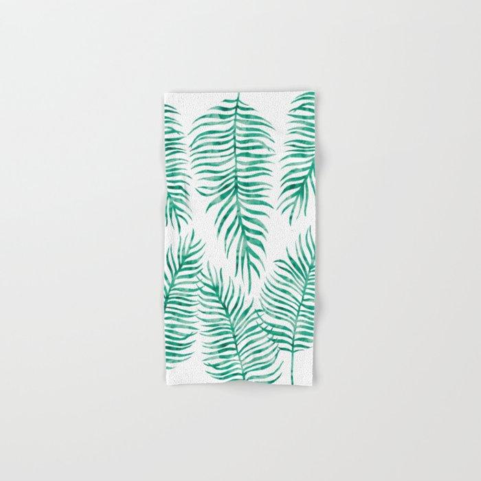 Fern Pattern Green Hand & Bath Towel