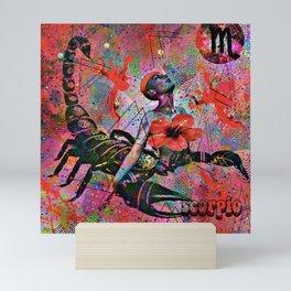 Scorpio Zodiac Art Mini Art Print