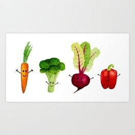 Vegetable Friends Art Print
