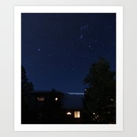 cabin Art Prints featuring cabin. by Forest