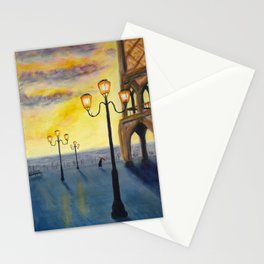 Lowry meets Venice, original painting, acrylics on board Stationery Cards