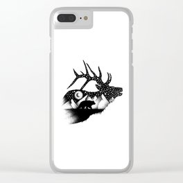 THE ELK AND THE BEAR Clear iPhone Case