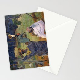 1887 - Gauguin - Among the mangoes at Martinique Stationery Cards