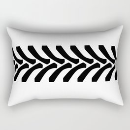 Tractor Tyre Tread Marks Rectangular Pillow