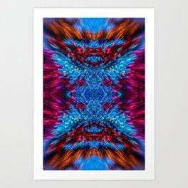 Blue and Magenta Light Refraction Patterns Art Print