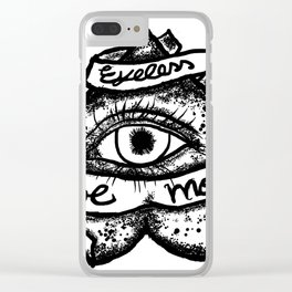 """""""Eyeless love more""""bw Clear iPhone Case"""