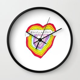 Heart of Miscellaneous Wall Clock