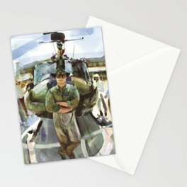 """""""Semper Paratus"""" - """"Always There, Always Ready"""" - Lt. Luciw of the R.I. Army National Guard Stationery Cards"""