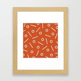 Fun Minimal Orange Framed Art Print