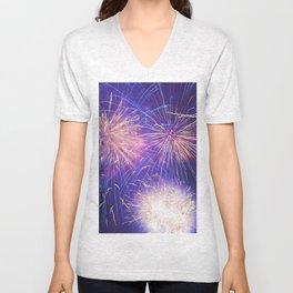 July Fourth Fireworks Unisex V-Neck