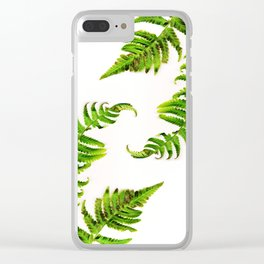 Fern on white - double Clear iPhone Case