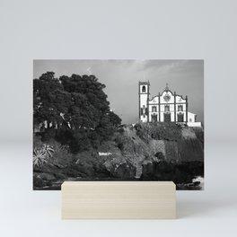 Church by the sea Mini Art Print