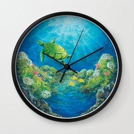 snorkel in kona Wall Clock