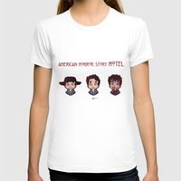 ahs T-shirts featuring AHS Hotel: Justin by Sunshunes