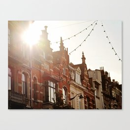 Belgian Homes Canvas Print