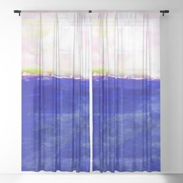 Journey No.600b by Kathy Morton Stanion Sheer Curtain